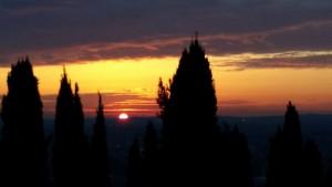 tramonto da Villa Rivalta